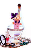 A composição da decoração escova senhoras imagem de stock royalty free