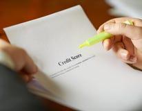 Composição da definição da pontuação de crédito Fotografia de Stock Royalty Free