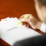 Composição da definição do orçamento equilibrado Foto de Stock