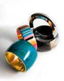 Composição da forma dos braceletes fotografia de stock