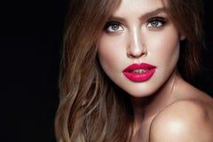 Composição da forma Mulher 'sexy' com cara da beleza fotos de stock royalty free
