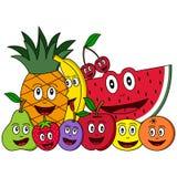 Composição da fruta dos desenhos animados Imagem de Stock