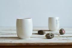 Composição da manhã do chá verde imagem de stock royalty free