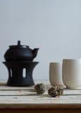 Composição da manhã do chá verde Fotografia de Stock