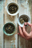Composição da manhã do chá verde Fotografia de Stock Royalty Free