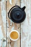 Composição da manhã do chá verde fotos de stock royalty free