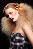 Composição da mulher da beleza de Dia das Bruxas Imagens de Stock Royalty Free