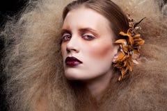 Composição da mulher da beleza de Dia das Bruxas Foto de Stock