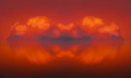 Composição da nuvem do sumário de Firecloud Imagens de Stock