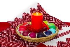 Composição da Páscoa no estilo do russo - cristandade - ovo pintado Imagens de Stock Royalty Free