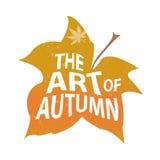 Composição da rotulação do outono para o cartão ou o cartaz Imagem de Stock