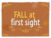 Composição da rotulação do outono para o cartão ou o cartaz Imagens de Stock Royalty Free