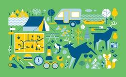 Composição da vida do acampamento Imagem de Stock Royalty Free