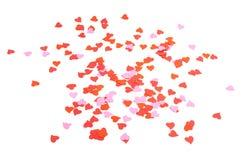 Composição dada forma coração dos confetes Fotos de Stock Royalty Free