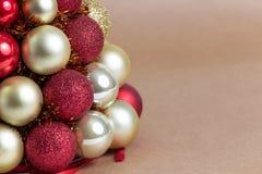 Composição das decorações do Natal no marrom Foto de Stock Royalty Free