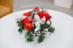 Composição das flores do Natal e de ano novo Imagem de Stock