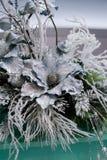 Composição das flores do Natal e de ano novo Fotos de Stock Royalty Free