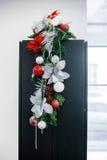 Composição das flores do Natal e de ano novo Foto de Stock Royalty Free