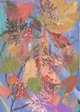 A composição das folhas de outono Fotografia de Stock Royalty Free