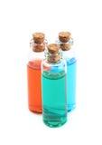 Composição de alguns tubos de ensaio de vidro Fotografia de Stock Royalty Free