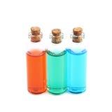 Composição de alguns tubos de ensaio de vidro Imagens de Stock Royalty Free