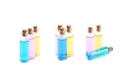Composição de alguns tubos de ensaio de vidro Fotos de Stock Royalty Free