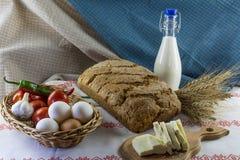 Composição de alimento no estilo de país Imagem de Stock Royalty Free