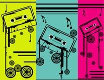 Composição de Cassettevector ilustração stock