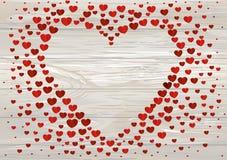 A composição de corações vermelhos Dia do `s do Valentim ano novo feliz 2007 V Imagens de Stock Royalty Free