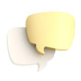 Composição de duas bolhas do texto isoladas Foto de Stock