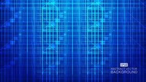 A composição de incandescência azul da tecnologia que consiste em raios, linhas abstrai o fundo do vetor ilustração do vetor