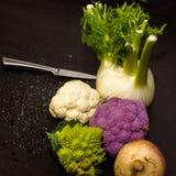Composição de ingredientes de alimento Fotografia de Stock Royalty Free
