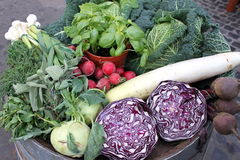 Composição de legumes frescos Fotografia de Stock