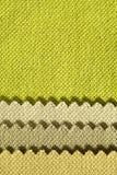 Composição de listras coloridas do tecido de algodão serrilhado Imagens de Stock