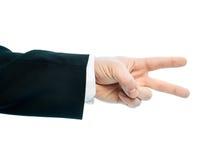 Composição de mão masculina caucasiano isolada Imagens de Stock Royalty Free