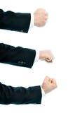 Composição de mão masculina caucasiano isolada Imagens de Stock