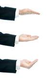 Composição de mão masculina caucasiano isolada Fotografia de Stock Royalty Free