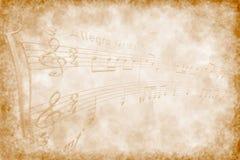 Composição de música Foto de Stock
