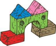 Composição de madeira dos blocos da cor Imagens de Stock