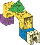 Composição de madeira dos blocos da cor Imagens de Stock Royalty Free