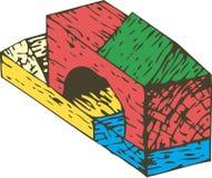 Composição de madeira dos blocos da cor Foto de Stock Royalty Free