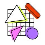 Composição de Memphis geométrica imagem de stock
