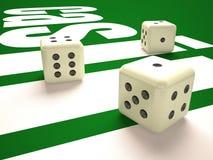 Composição de microplaquetas dos dados e do casino ilustração royalty free