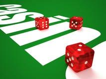 Composição de microplaquetas dos dados e do casino ilustração do vetor