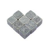 Composição de pedra do cubo do uísque isolada Foto de Stock