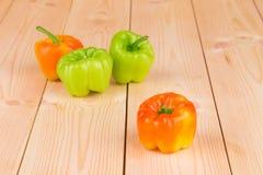 Composição de pimentas diferentes Fotografia de Stock Royalty Free