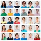 Composição de povos de sorriso Fotos de Stock Royalty Free