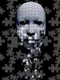 Composição de queda da máscara do enigma ilustração stock