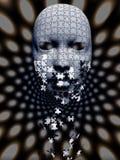 Composição de queda da máscara do enigma ilustração royalty free