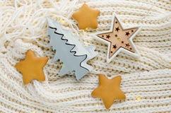 Composição de uma árvore de Natal de madeira Imagem de Stock